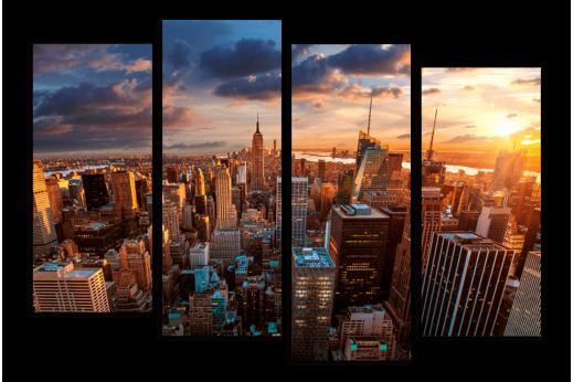 Модульная картина Вечерний Нью-Йорк