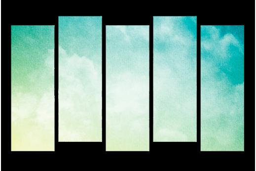 Модульная картина Акварельный туман