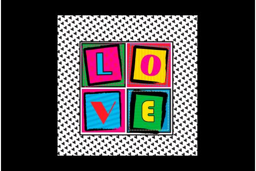Постер Поп-арт LOVE